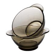 青苹果 法式 双耳玻璃碗2件