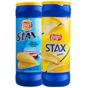 Lays 乐事无限桶薯片 醋盐味 155.9g*2桶19.8元包邮(需用券)