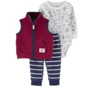 Carter's 孩特 婴幼儿长袖连体衣马甲长裤 3件套装