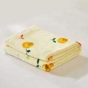 MENDALE 梦洁家纺 可水洗双面毛毯 甜甜蜜柚 70*100cm
