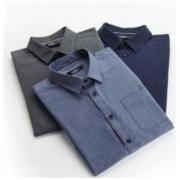 SEVEN 柒牌 116A38110 男士纯棉衬衫
