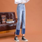 La Chapelle 拉夏贝尔 28252-03LK-67 女式减龄撞色牛仔裤