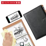 ELFINBOOK X系列 智能可重复书写笔记本子 140页 A5 商务黑 *2件