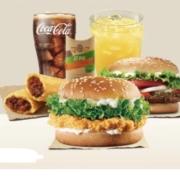 汉堡王 双人餐(小皇堡+鸡排堡+红豆派+中可+卡曼橘果泡饮)单次券29.9元