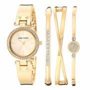 prime会员!Anne Klein 女式 施华洛世奇 水晶手表和手镯套装  含税到手约318元