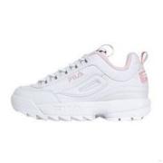 FILA 斐乐 DISRUPTOR 2 中性休闲运动鞋 FS1HTB1074X 白色/粉色 37