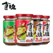 juanchengpai 鹃城牌 香菇牛肉酱+泡椒牛肉酱+蒜蓉辣椒酱 200g*4瓶