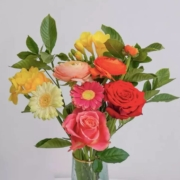plus会员:远方的花  定制花束 满园春色