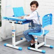 Hsulam 儿童学习桌椅套装 浅蓝色学习桌椅(经典款) 199元包邮