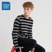 Jeanswest 真维斯 JW-94-196TB519 男士圆领条纹毛衣
