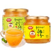 福事多 柚子茶500g+柠檬茶500g
