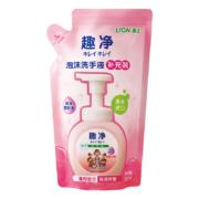 PLUS会员:狮王 水润爽肤香型泡沫洗手液补充装 200ml *5件