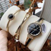 Anne Klein 安妮·克莱恩 AK/3292BKST 施华洛世奇水晶 女士手镯手表套装 到手约¥283