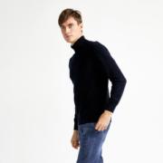 拉夫劳伦制造商 本米 超细美利奴羊毛混纺 男高克重厚款高领针织衫