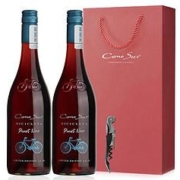 CONOSOR 柯诺苏 自行车系列限量版黑比诺干红葡萄酒 750ml*2支