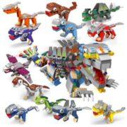 汇奇宝 侏罗纪系列积木 恐龙机械兽 整套十二盒