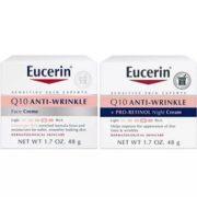 Eucerin 优色林 Q10 舒缓紧肤抗皱保湿日霜+晚霜套装 48g*2  直邮含税到手约¥89.8