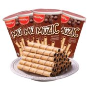 马来西亚 马奇新新 巧克力注芯蛋卷 85g*4罐