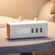 BULL 公牛 UUP152 usb床头闹钟 充电插排