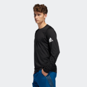 adidas 阿迪达斯 男装训练运动圆领套头长袖T恤DQ2846