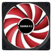 Sama 先马 游戏风暴 黑框红叶无光静音风扇 12CM