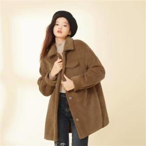 LaChapelle 拉夏贝尔 21256 女式羊羔绒外套