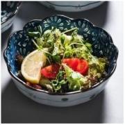 miske 日式釉下彩陶瓷沙拉碗 1只装 *2件15.8元包邮(需用券)