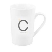 chili 白色陶瓷字母马克杯 430ml