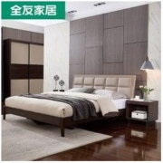 QuanU 全友 123901 意式板式软靠床1.8m+床头柜*1