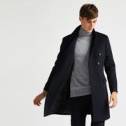 拉夫劳伦制造商 本米 男 澳洲美利奴 双排扣中长款羊毛大衣