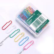 SUNWOOD 三木 8104 彩色回形针 100枚/盒 10盒装 *12件