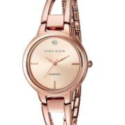 prime会员!Anne Klein 安妮克莱因 AK/2626RGRG 女款玫瑰金水晶镂空手镯手表  直邮含税到手¥199.95