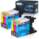 OfficeWorld 6个装墨盒(2 青色,2 洋红色,2 个黄色) 适用于 Brother打印机