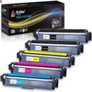 ARTHUR imaging 碳粉墨盒 5件装(2个黑色,1青色,1黄色,1洋红色) 适用于 BROTHER打印机
