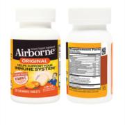 美国产 Schiff旗下 Airborne复合维生素咀嚼片 32粒*2瓶 提高免疫力