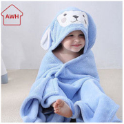 AWH 儿童带帽浴巾斗篷