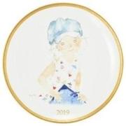 Prime会员: Narumi 鸣海 2019款餐盘 带有素描手册的蓝色帽子的少女 直径21cm