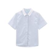 Meters bonwe 美特斯邦威 225679 女士纯棉短袖衬衫低至16.35元/件