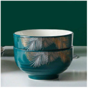 白嘉伊 色釉陶瓷碗 4.5英寸 2个装7.8元包邮(需用券)