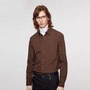 JACK JONES 杰克琼斯 219305522 男士纯棉格子衬衫