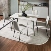 顾家家居  KUKA  餐桌 一桌四椅 岩板 140*80CM2699元包邮