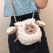 RLK  毛线编织diy 小羊白卡其材料包10.9元包邮(需用券)