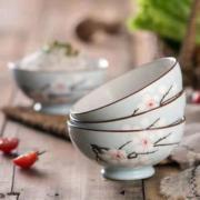 贝贝说 釉下彩陶瓷碗 4.5英寸 4个装17.8元包邮(需用券)