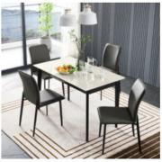 CHEERS 芝华仕 PT024 现代轻奢折叠餐桌椅组合 一桌四椅3899元