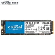 21点开始: crucial 英睿达 P2系列 M.2 NVMe 固态硬盘 1TB599元包邮
