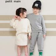 日本人气童装,petit main 儿童 2021春季新品 长袖二件套 兄妹套装