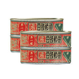 鹰金钱 鲮魂豆豉鲮鱼罐头 184g*4罐