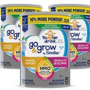 1.02kgx3罐,含2'-FL HMO:Similac 美版雅培 Go & Grow 心美力 3段婴幼儿配方奶粉