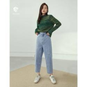 范思蓝恩 Z204599 女士高腰直筒牛仔裤89元包邮(双重优惠)
