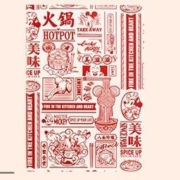 Kinbor 迪士尼90周年 A5皮面手帐本 火锅米奇